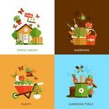 Het tuinieren Ontwerpconcept Stock Fotografie
