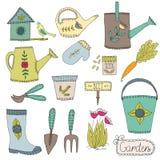 Het tuinieren ontwerpelementen Stock Foto