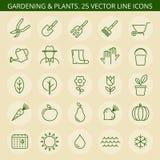 Het tuinieren pictogrammen Stock Foto