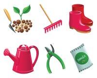 Het tuinieren pictogramreeks Royalty-vrije Stock Fotografie