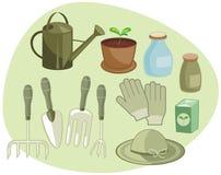 Het tuinieren Reeks Stock Afbeelding
