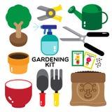 Het tuinieren uitrusting Stock Afbeelding