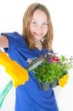 Het tuinieren van het meisje Royalty-vrije Stock Afbeeldingen