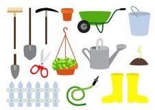 Het tuinieren vectorhulpmiddelen Stock Foto's