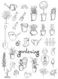 Het tuinieren vectorinzameling Stock Foto's