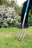 Het tuinieren vork Stock Foto's