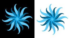 Het turkooise Blauwe Symbool van de Bloem van de Ster Royalty-vrije Stock Afbeeldingen