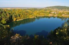Het Turkooise die meer ook als Emerald Lake wordt bekend, het is geclassificeerd als één van de mooiste meren van het Nationale P royalty-vrije stock afbeelding