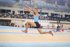 Het Turkse Atletische Ras van de het Verslagpoging van de Federatie Binnenatletiek Royalty-vrije Stock Foto's