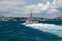 Het Turkse Schip TCG TekirdaÄŸ van de Marinepatrouille Stock Afbeelding