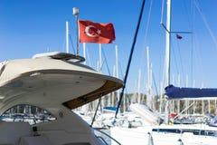 Het Turkse vlag golven Royalty-vrije Stock Fotografie