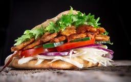 Het Turkse voedsel van Doner Kebab Stock Foto