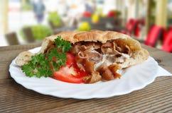 Het Turkse voedsel van Doner Kebab Stock Foto's