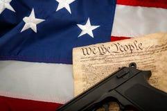 Het tweede amendement stock foto