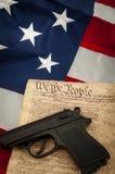 Het tweede amendement stock afbeelding