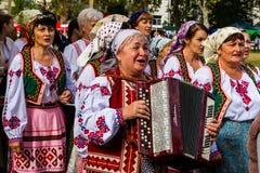 Het tweede etnische festival Bobovischenske Grono werd gehouden in Zaka stock afbeelding