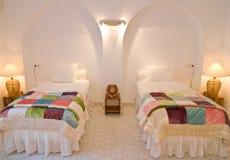 Het tweeling Binnenland van de Slaapkamer Stock Foto