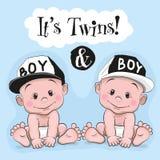 Het is tweelingen stock illustratie