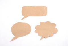Het type van bellenspethree van bellentoespraak van paperech wordt van document wordt gemaakt gemaakt dat Stock Foto's