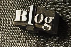 Het Type van Blog Royalty-vrije Stock Afbeeldingen