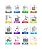 Het type van dossier pictogram Stock Foto's