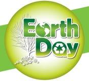 Het Type van Embleem van de Dag van de aarde Stock Fotografie