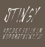 Het type van Grungekras doopvont, uitstekende typografie Stock Afbeelding