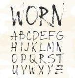 Het type van Grungekras doopvont, uitstekende typografie Royalty-vrije Stock Foto