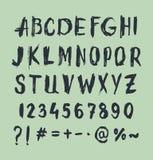 Het type van Grungekras doopvont, uitstekende typografie Stock Foto's