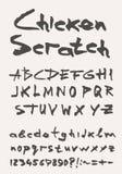 Het type van Grungekras doopvont, uitstekende typografie Stock Foto