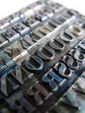 Het Type van letterzetsel stock foto