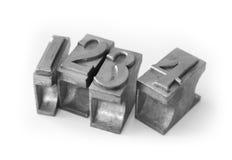 Het type van metaal (gegoten metaalsoort) Stock Foto's