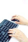 Het typen van het toetsenbord Royalty-vrije Stock Afbeeldingen