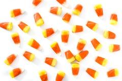 Het typische Halloween-geïsoleerde patroon van het suikergoedgraan Stock Afbeelding