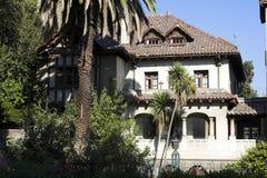 Het typische Huis Santiago doet Chili stock afbeeldingen