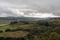 Het typische landschap van Toscanië royalty-vrije stock foto