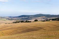 Het typische landschap van Toscanië royalty-vrije stock fotografie