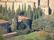Het typische landschap van Toscanië Royalty-vrije Stock Afbeelding