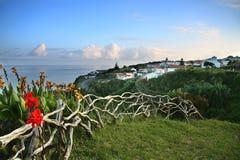 Het typische panorama van de Azoren Stock Foto's