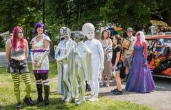 Het UFO Eerlijke Vreemde Pagent van pijnboombush royalty-vrije stock afbeeldingen