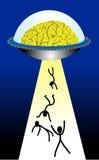 Het UFO van hersenen Royalty-vrije Stock Afbeeldingen