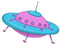 Het UFO van het beeldverhaal Stock Afbeeldingen