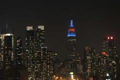 Het uit het stadscentrum Panorama van Manhattan Royalty-vrije Stock Foto