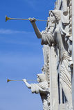 Het uitbazuinen Hoeken (architectuurdetail) Royalty-vrije Stock Fotografie
