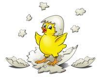 Het Uitbroeden van de kip royalty-vrije illustratie