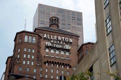 Het Uiteinde Hoogste Kraan van het Allertonhotel, Chicago Illinois stock foto's