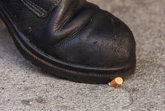 Het uiteinde van de sigaret Stock Afbeelding