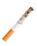 Het uiteinde van de sigaret met as royalty-vrije stock foto