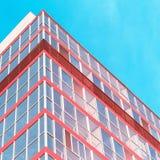 Het uiteinde van een modern gebouw Royalty-vrije Stock Afbeeldingen
