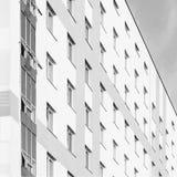 Het uiteinde van een modern gebouw Stock Fotografie